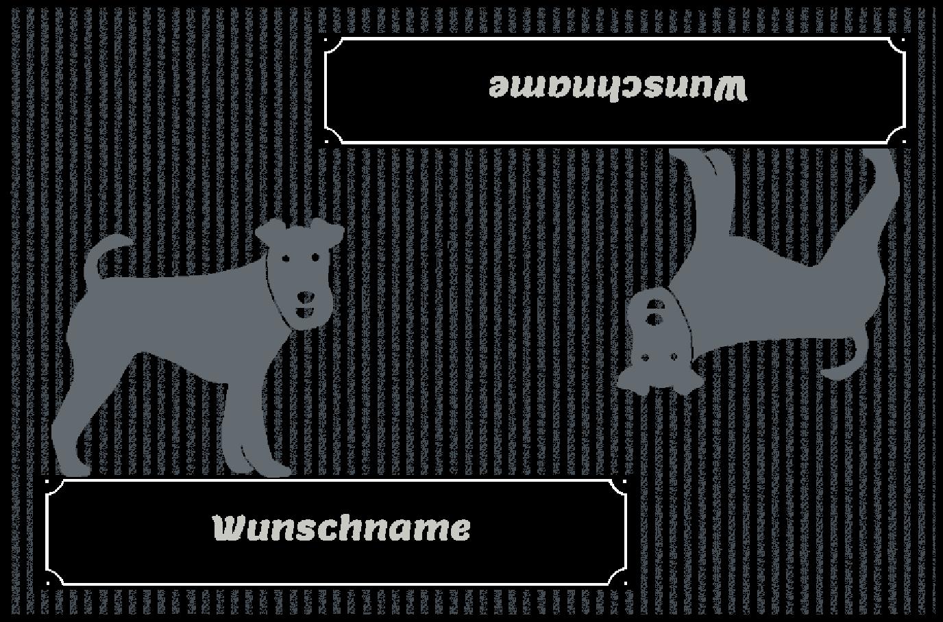 Fußmatte mit Namen Napfunterlage Hundematte    90x60 cm  Design 27180501  | Jeder beschriebene Artikel ist verfügbar  a5f5ff