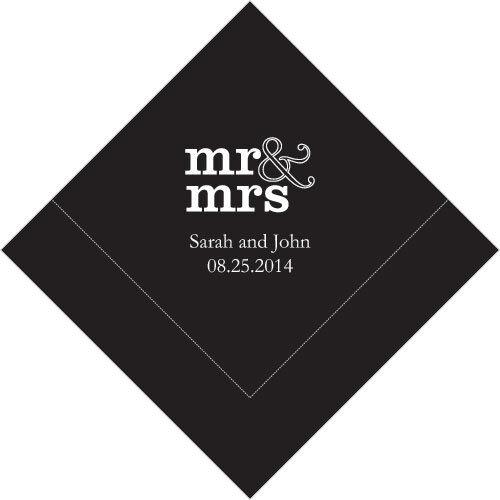 300 M. et Mme Personnalisé Mariage Déjeuner Serviettes