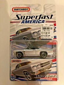Silver 2006 Superfast America #12-1970 El Camino MJ7 Matchbox