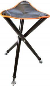 Ansitzstuhl-Sitzstock-Dreibein-Leder-orange-65-cm-Premium-Qualitaet-stabil-TOP
