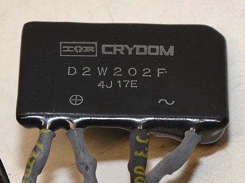Cramer 636W Hour Meter with Crydom D2W202F Relay 110VAC