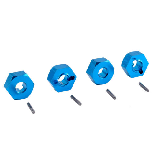 Alum 0044 Wheel Hex Drive Adaptor /&Pin 4P Blue Fit RC  WLtoys 1:12 Climbing Car