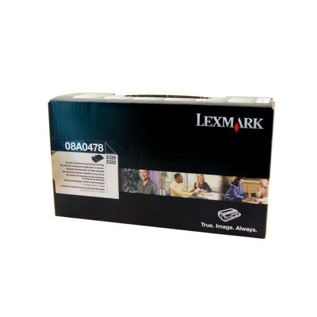 New Genuine Original Lexmark 08A0478 Black Toner Cartridge E320 E322N 6000 Pages
