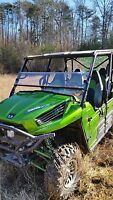 2012-15 Kawasaki Teryx 4 Clear Half Front Windshield-1/4 Thick Polycarbonate