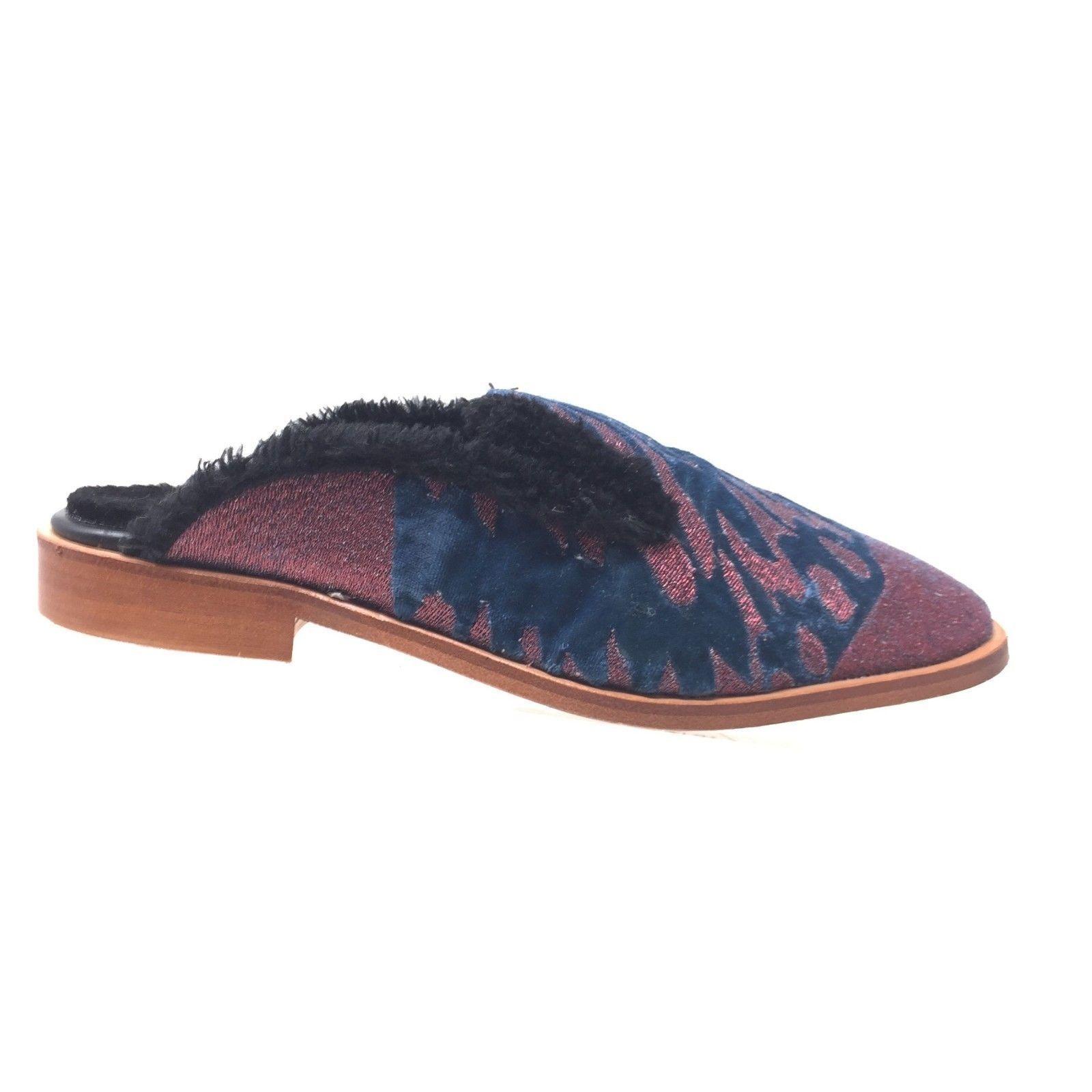 NEW Free People Slip-On Butterfly Effect Faux Fur  Slip-On People Mules Größe 41/10 a695d4