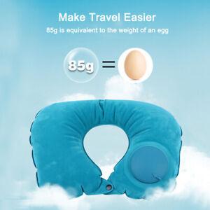 Inflatable-U-Shape-Pillow-Travel-Air-Cushion-Beach-Car-Auto-Plane-Head-Rest-New