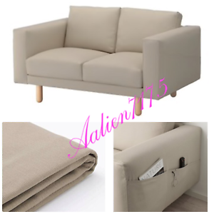 Superb Details About Ikea Norsborg Loveseat With Armrest Slipcover Cover Edum Beige Discontinued Machost Co Dining Chair Design Ideas Machostcouk