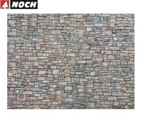 NOCH-H0-56640-3D-Kartonplatte-Mauerplatte-034-Bruchsteinmauer-034-1m-57-28-NEU