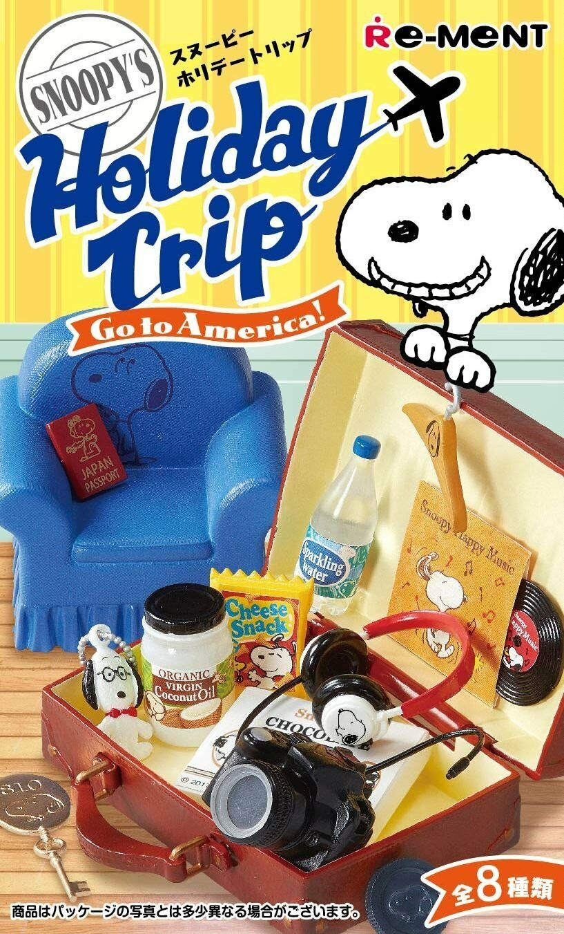 Snoopy SNOOPY'S Holiday Trip - Go to America - BOX all 8 types Japan