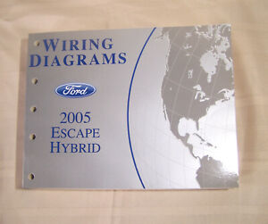 2005 Ford Escape Hybrid Wiring Diagram Oem Factory Manual Ebay