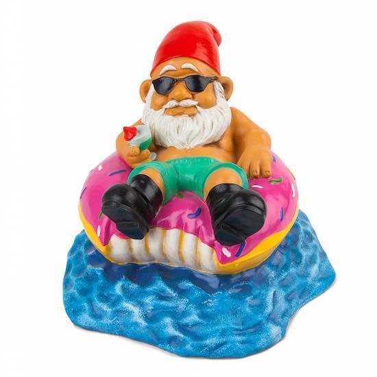 Big Mouth Toys the Donut Worry BE Happy Nain de Jardin Nouveauté ...