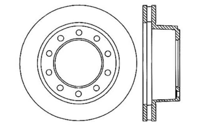 Disc Brake Rotor Front,Rear Centric 121.66018