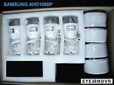 4x SAMSUNG AHD 1080p Full HD Outdoor IR 82ft Bullet Cameras pack SDC-9441BC-4X-E