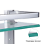 Vdomus-Tempered-Glass-Bathroom-Shelf-w-Towel-Bar-Wall-Mounted-Shower-Storage thumbnail 4