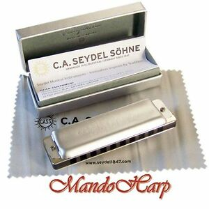 Seydel-Harmonica-16501-1847-Noble-SELECT-KEY-NEW