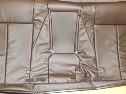 New OEM 2012-2016 Isuzu D-Max TFR TFS Rear Bench Seat Back Cover Brown Leather