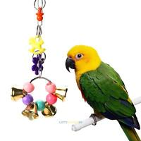 Acrylic Pet Toys Parrot Toy Bird Bell Ball For Parakeet Cockatiel Chew Fun Cage