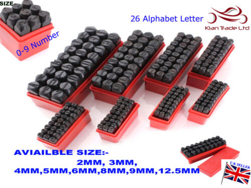 Stamps Letters Alphabet And Numbers Set Punch Steel Metal Die Tool Case Craft