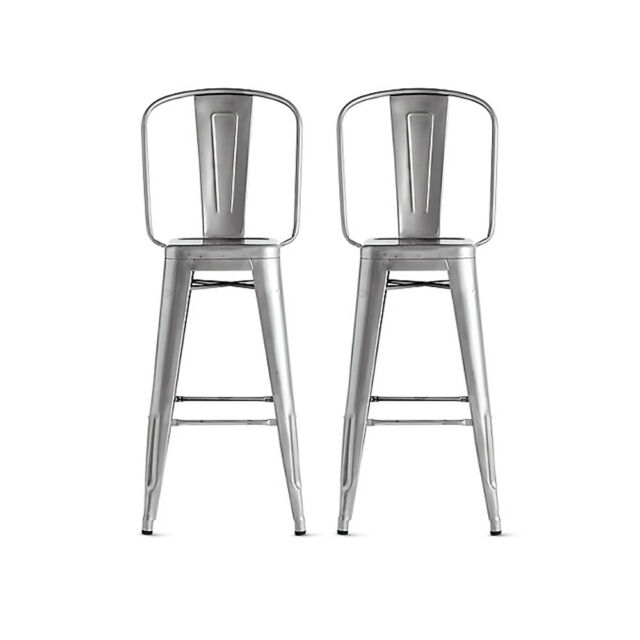 Pleasant Authentic Tolix Marais Barstool With High Back Set Of 2 Design Within Reach Gmtry Best Dining Table And Chair Ideas Images Gmtryco
