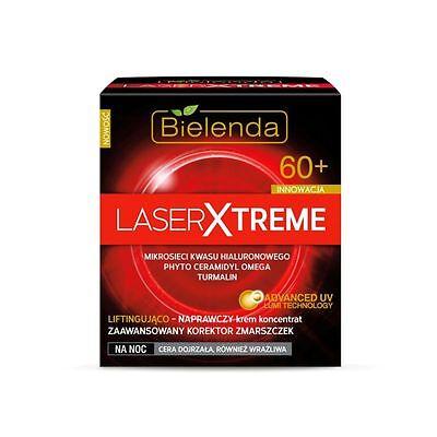 BIELENDA LASER EXTREME Antifalten Nachtcreme mit Hyaluronsäure +60 50 ml