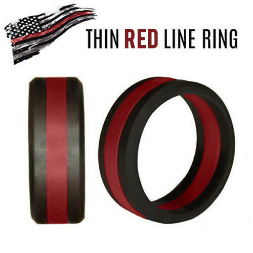 Thin Red Line Silicone Ring Support First Responders Rothco 801