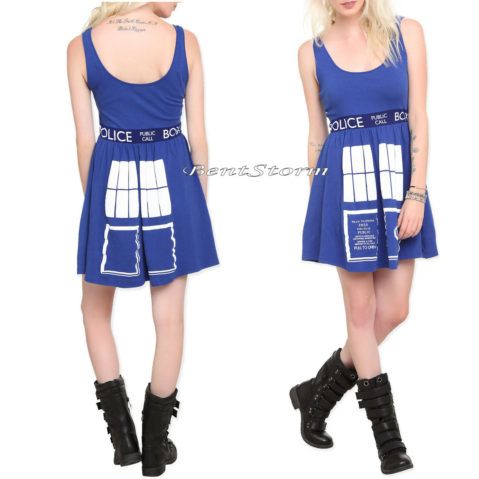 Doctor Dr. Who - BBC Her Universe Costume Tardis Skater Dress Police Call Box