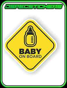 BABY-ON-BOARD-WINDOW-CAR-BUMPER-STICKER-KIDS-FAMILY-WARNING-CHILD-SAFETY-130mm