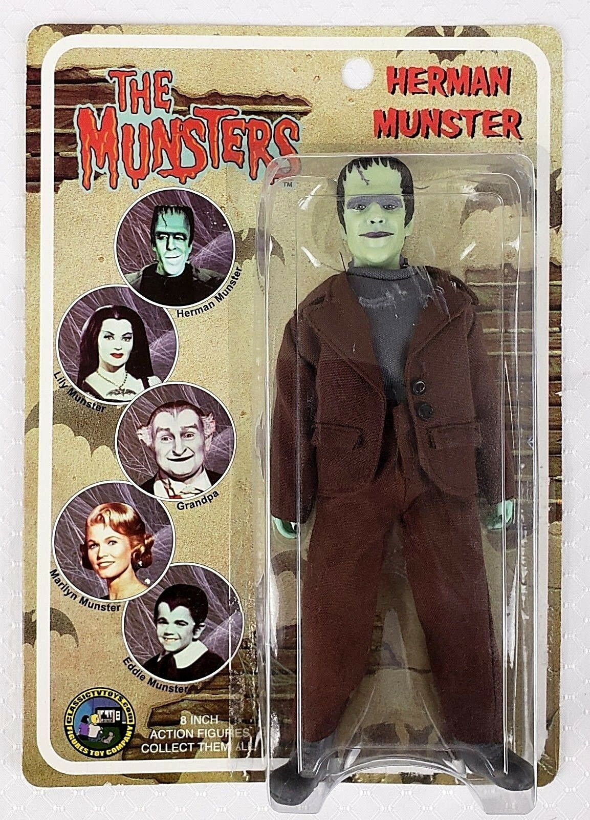The Munsters Herman Munster 8 Inch Action Figure Classic TV Toys 2004