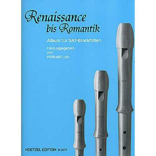 SAT Noten für 3 Blockflöten Renaissance bis Romantik 3977-9790204539772