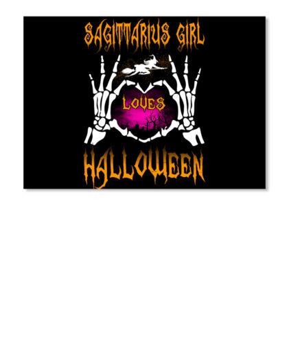 Landscape Details about  /Sagittarius Girl Loves Halloween Funny Sticker