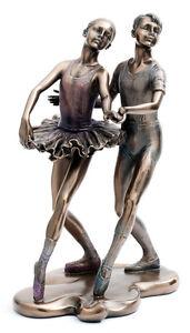 Actif Joli Effet Bronze Paire De Ballet Dancers Figurine Katz Dancewear Kdfig-12 Pour Aider à DigéRer Les Aliments Gras