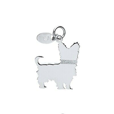 "Hartig Yorkshire Terrier Dog Pendant Solid Silver 925 Stamp Pet Jewellery 14-30"" Chain"
