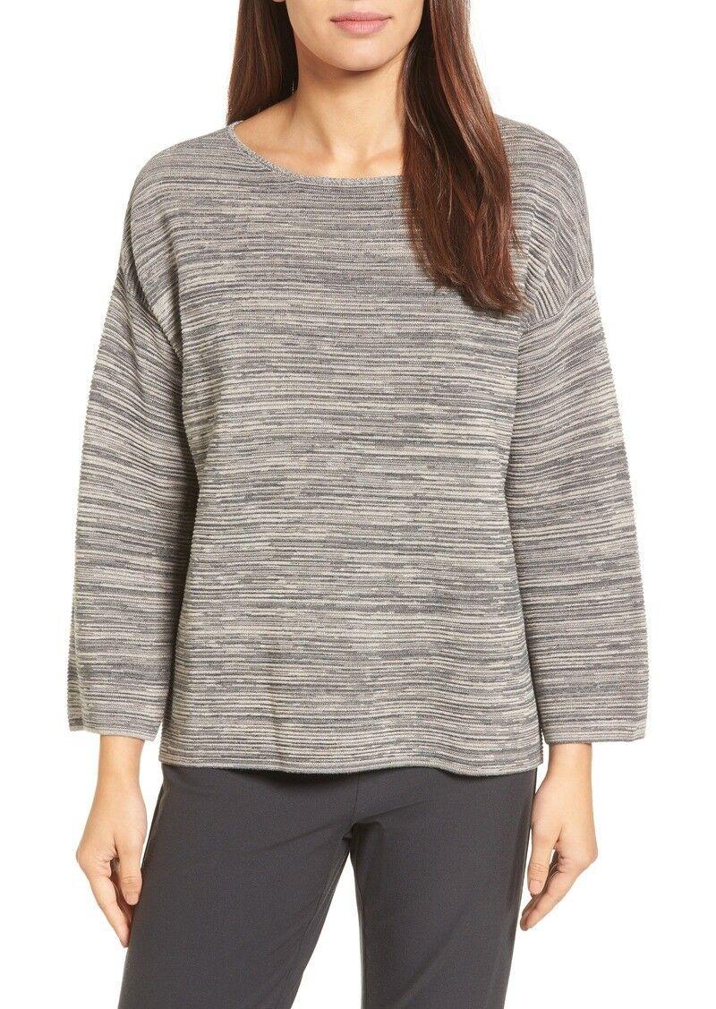 NEW Eileen Fisher Tencel & Organic Cotton Sweater in Maple Oat - Size L