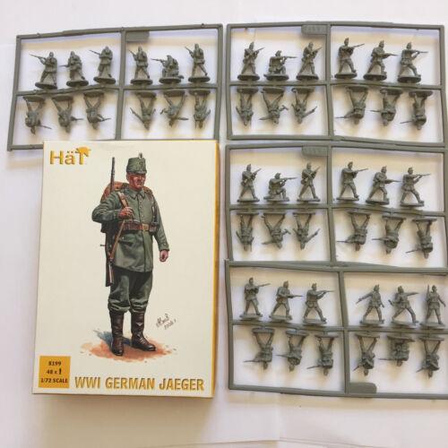 Hat 8199 WWI ALLEMAND Jaeger 48 pièces échelle 1//72 JOUET EN PLASTIQUE SOLDAT Kit