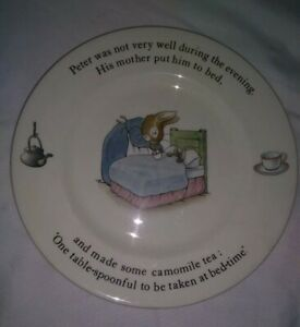 Beatrix-Potter-Wedgwood-Peter-Rabbit-Vintage-Plate-1993-ENGLAND-Frederick-Warne