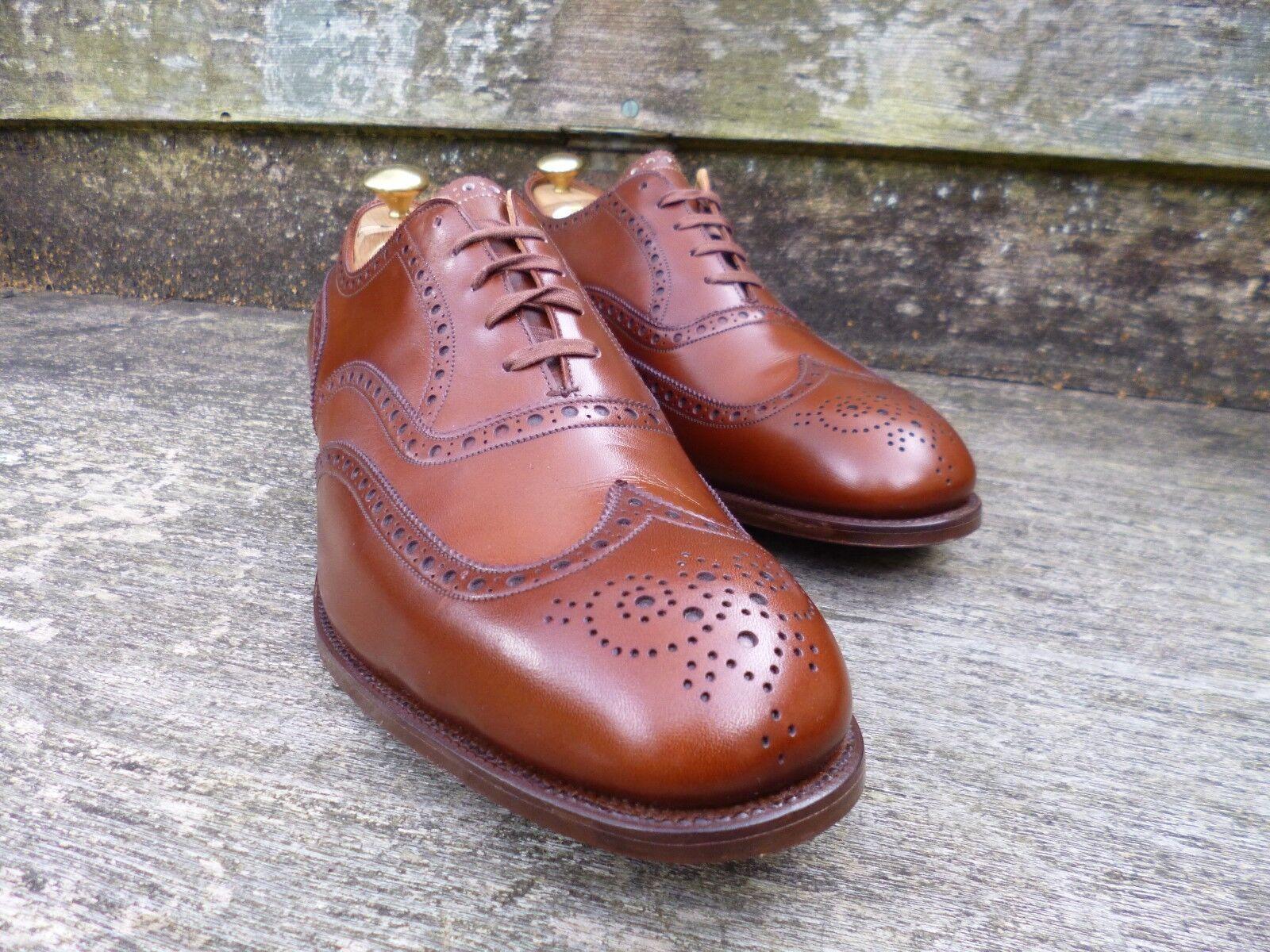 Edward Green VINTAGE Brogue -- Marrone / Marrone-condizioni mai indossati Scarpe classiche da uomo