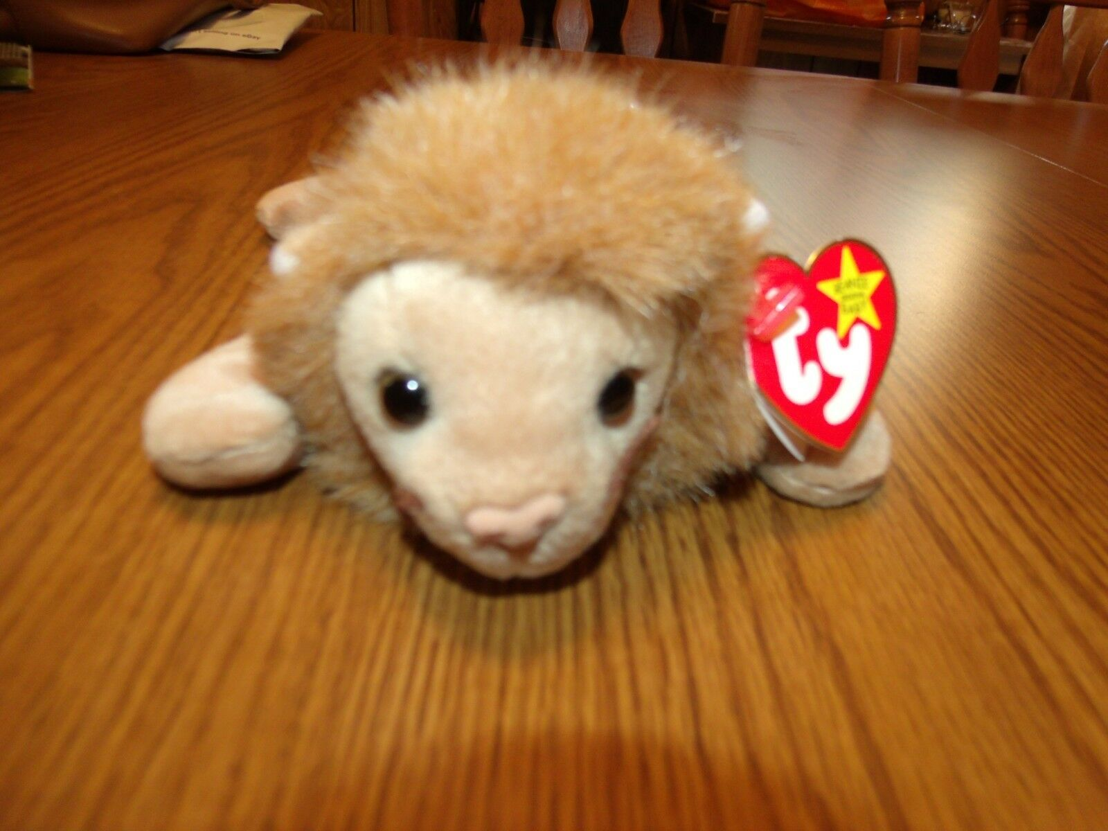 RETIRED TY BEANIE BABY ROARY DOB 2 20 1996 WITH TAG ERRORS & FACTORY FLAWS