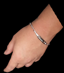 Personalised-Sterling-silver-cut-out-heart-bracelet-Wedding-Birthday-Gift