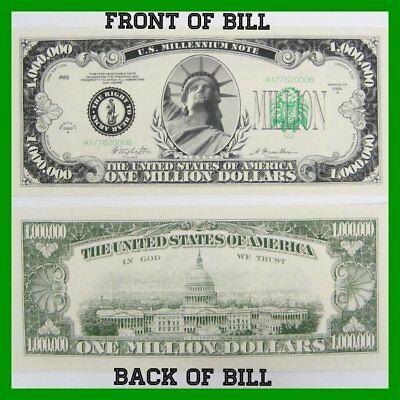 Fundraiser Wholesale 500 bills Donald Trump Million Dollar Legacy Bill Own