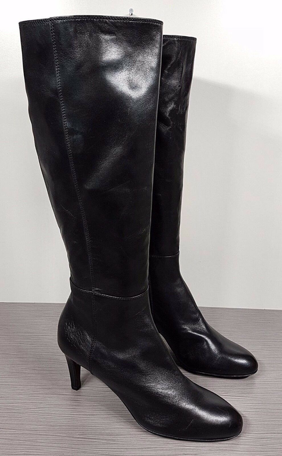 AGL Style Tall Boot, Soft Black Leather Womens size 9.5   39.5    575