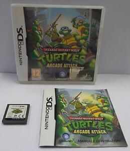 Gioco-Game-NINTENDO-DS-EUR-ITALIANO-TEENAGE-MUTANT-NINJA-TURTLES-ARCADE-ATTACK