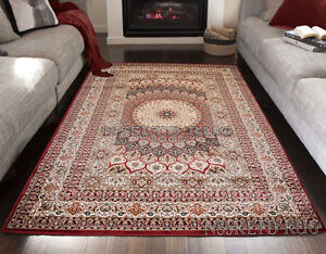 Persian Style Designer Rug Traditional Almas Red Rug 2533 Living room Carpet