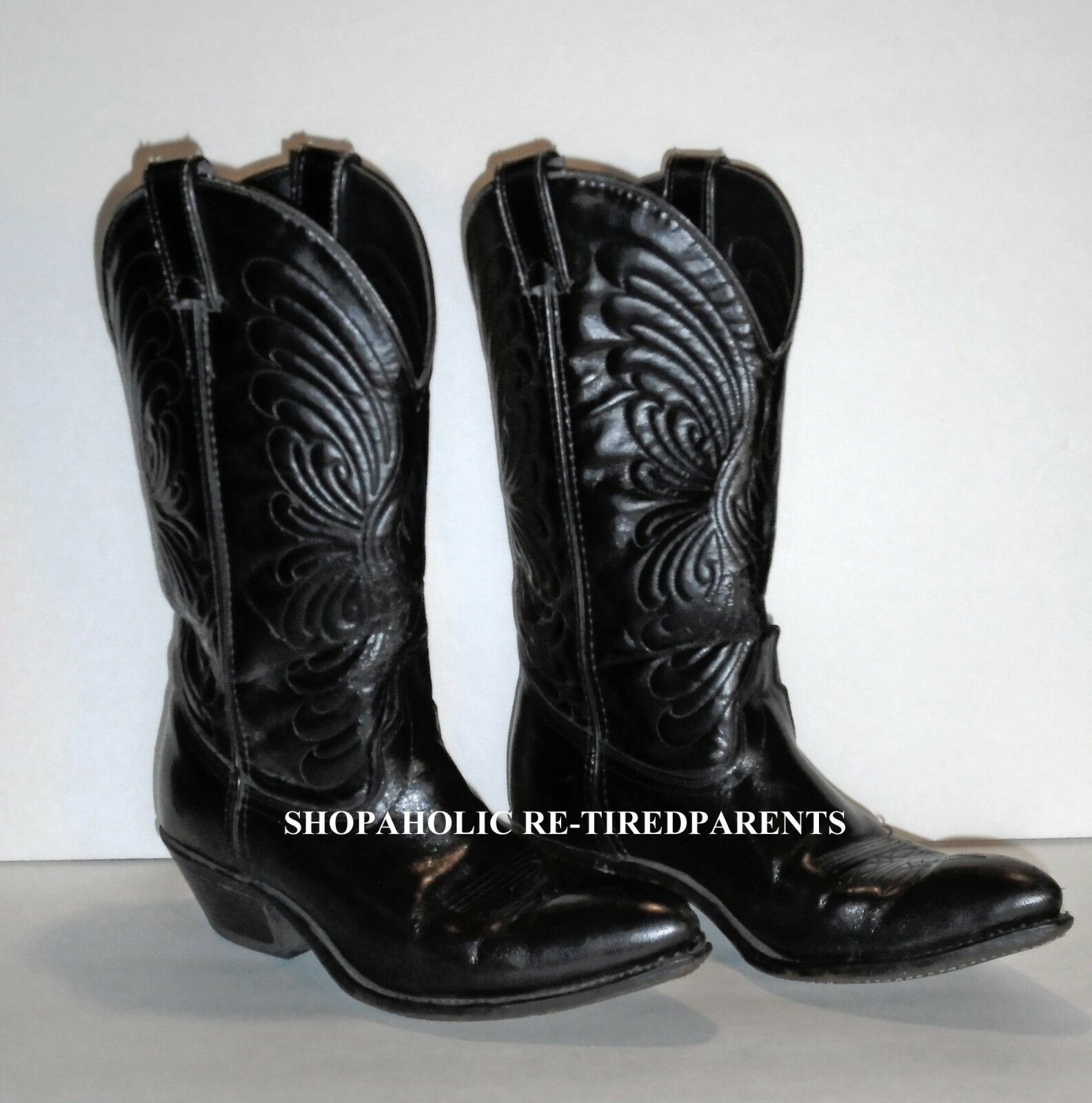 LAREDO WESTERN BOOTS – GENUINE LEATHER – MADE IN USA – LADIES SIZE 7M – VG EXC