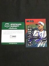 DALE EARNHARDT SR. 1997 WHEELS PREDATOR SIGNED AUTOGRAPHED CARD #3 SGC AUTHENTIC
