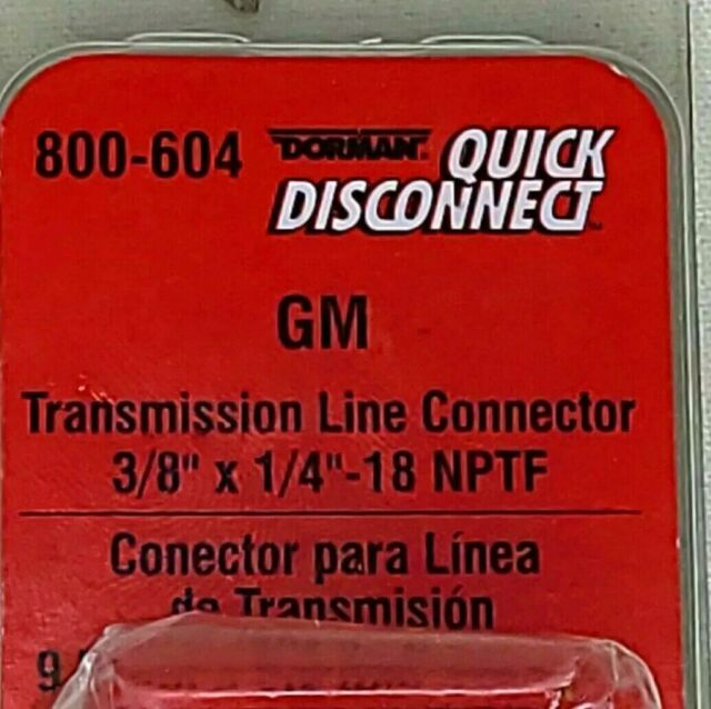 Dorman 800-604 Transmission Cooler Line Connector Buick GMC Chevy Pontiac (#445)