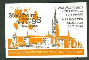 SWEDEN (H497) Scott 2288a, 7kr City of Stockholm booklet, VF