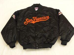 SAN-FRANCISCO-GIANTS-STARTER-BOMBER-USA-JACKE-MLB-VINTAGE-SCHWARZ-GR-L-WIE-NEU