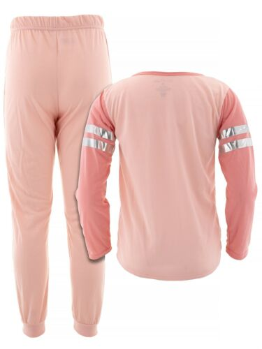 dELiA*s Girls Unicorn Coral Silver Long Sleeved Jogger Pajamas