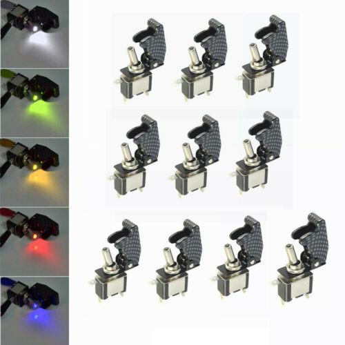 10x 12V//20A Auto KFZ Schalter Kippschalter LED Beleuchtet EIN//AUS Toggle Switch