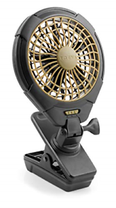 Treva 5 Inch Battery Powered Clip Slim and Portable Cooling Fan with Clamp for